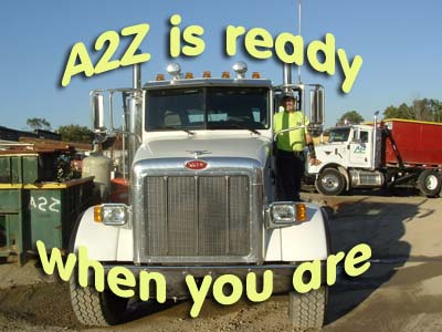 A2Z Envirnomental Services ready when you are
